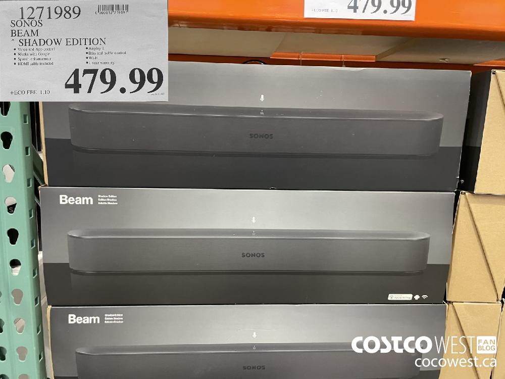 1271989 SONOS BEAM * SHADOW EDITION $479.99