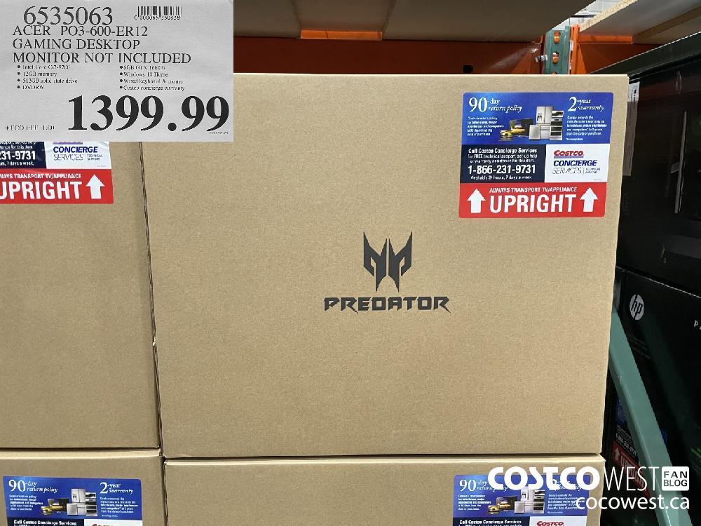 6535063 ACER PO3-600-ER12 GAMING DESKTOP MONITOR NOT INCLUDED $1399.99