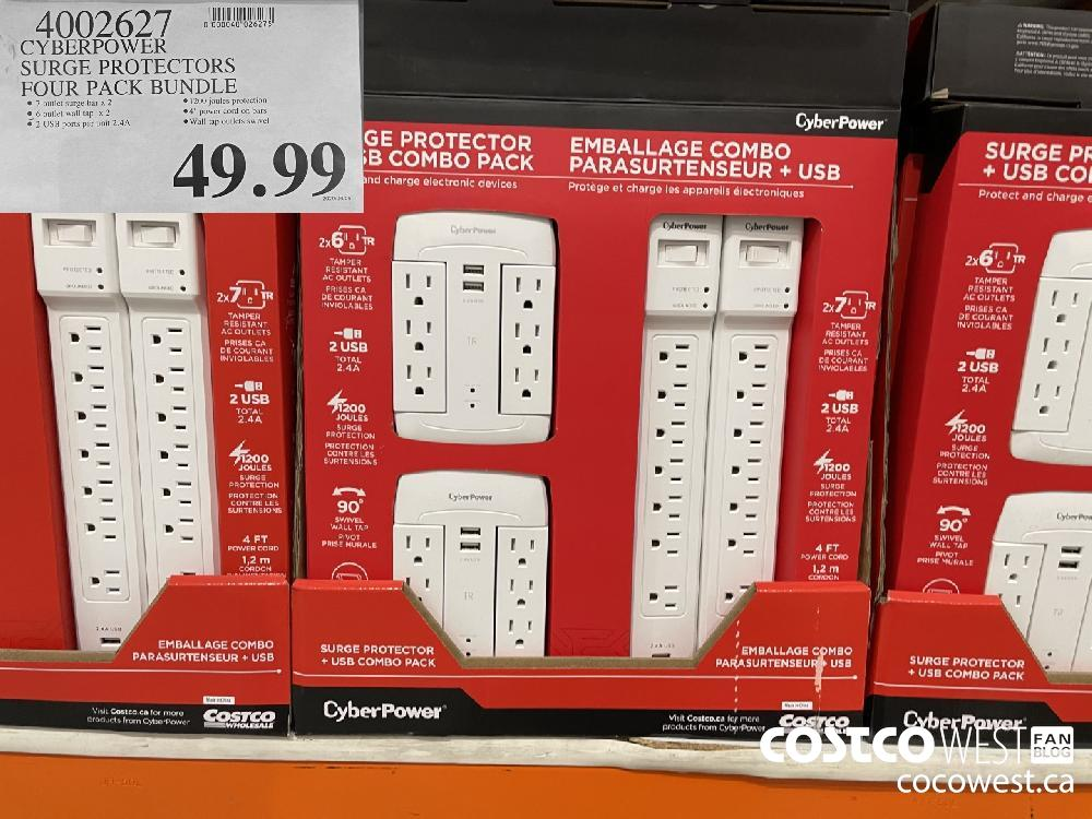 4002627 CYBERPOWER SURGE PROTECTORS FOUR PACK BUNDLE $49.99