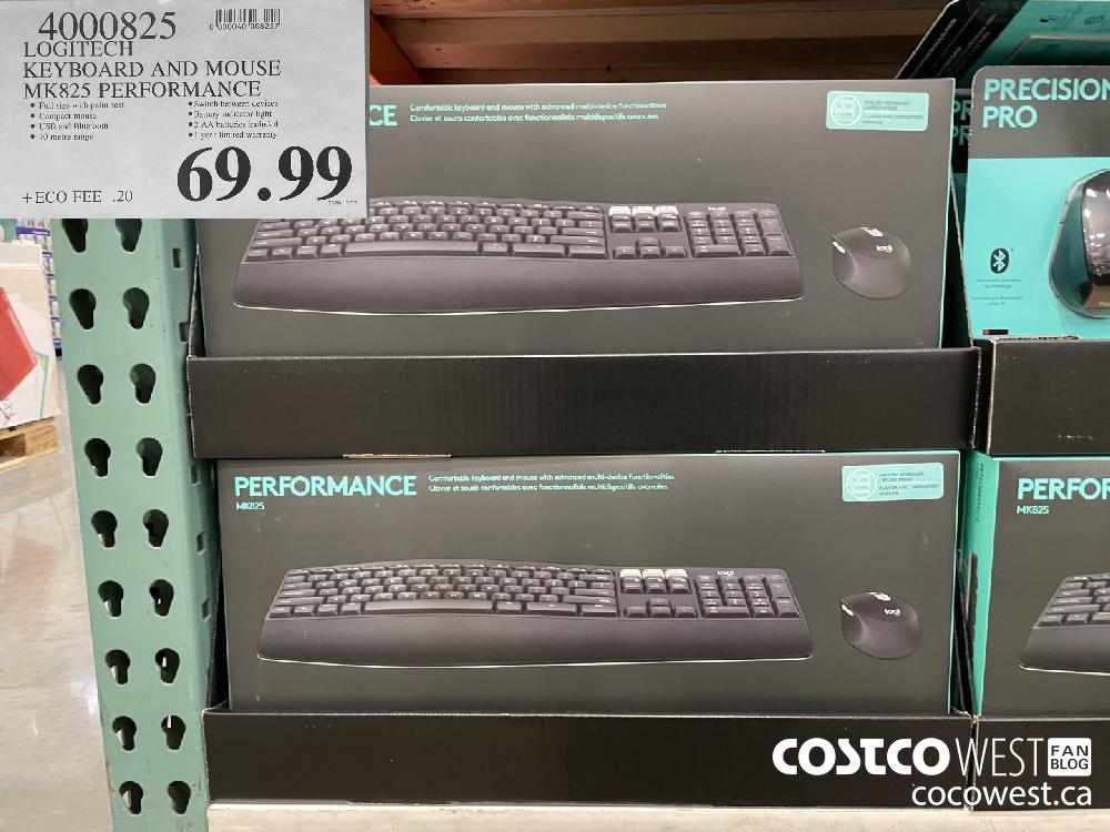 4000825 LOGITECH KEYBOARD AND MOUSE MK825 PERFORMANCE $69.99