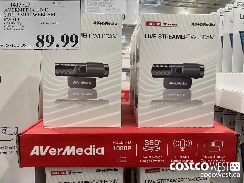 1413717 AVERMEDIA LIVE STREAMER WEBCAM PW313 $89.99