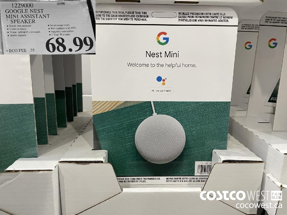 1229000 GOOGLE NEST MINI ASSISTANT * SPEAKER $68.99