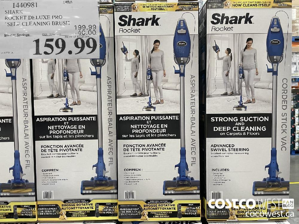 1440981 SHARK RUCKET DELUXE PRO SELF CLEANING BRUSH EXP. 2020-11-22 $159.99