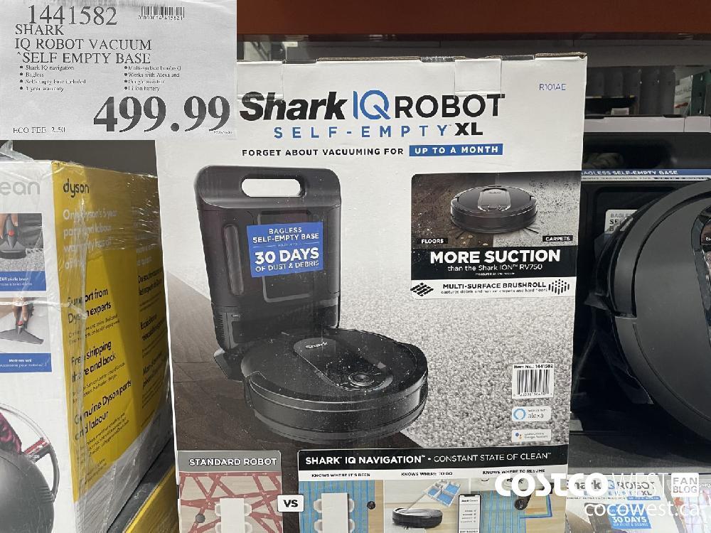 1441582 IQ ROBOT VACUUM SELF EMPTY BASE $499.99