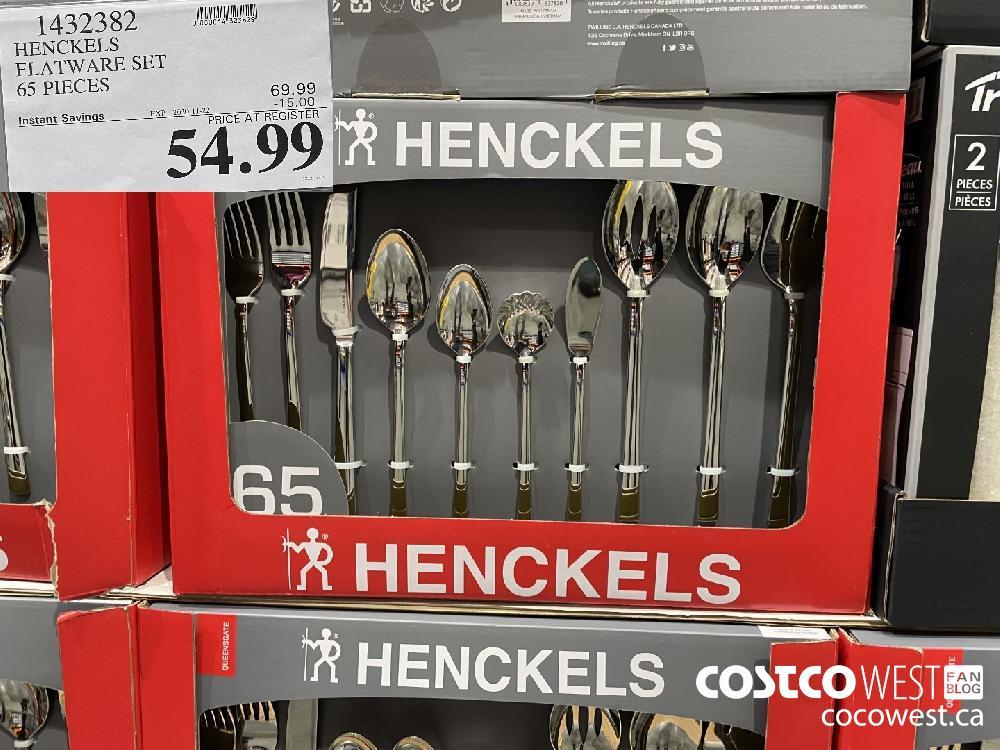 1432382 HENCKELS FLATWARE SET 65 PIECES EXP. 2020-11-22 $54.99