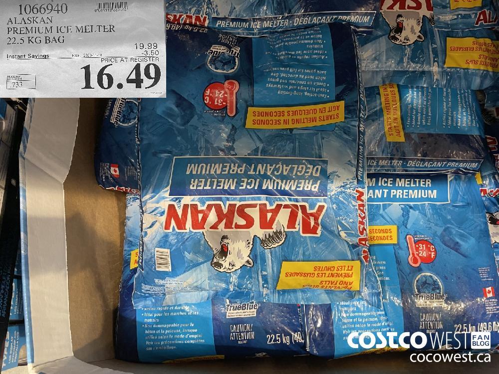 1066940 ALASKAN PREMIUM ICE MELTER 22.5 KG BAG EXP. 2020-11-18 $16.49