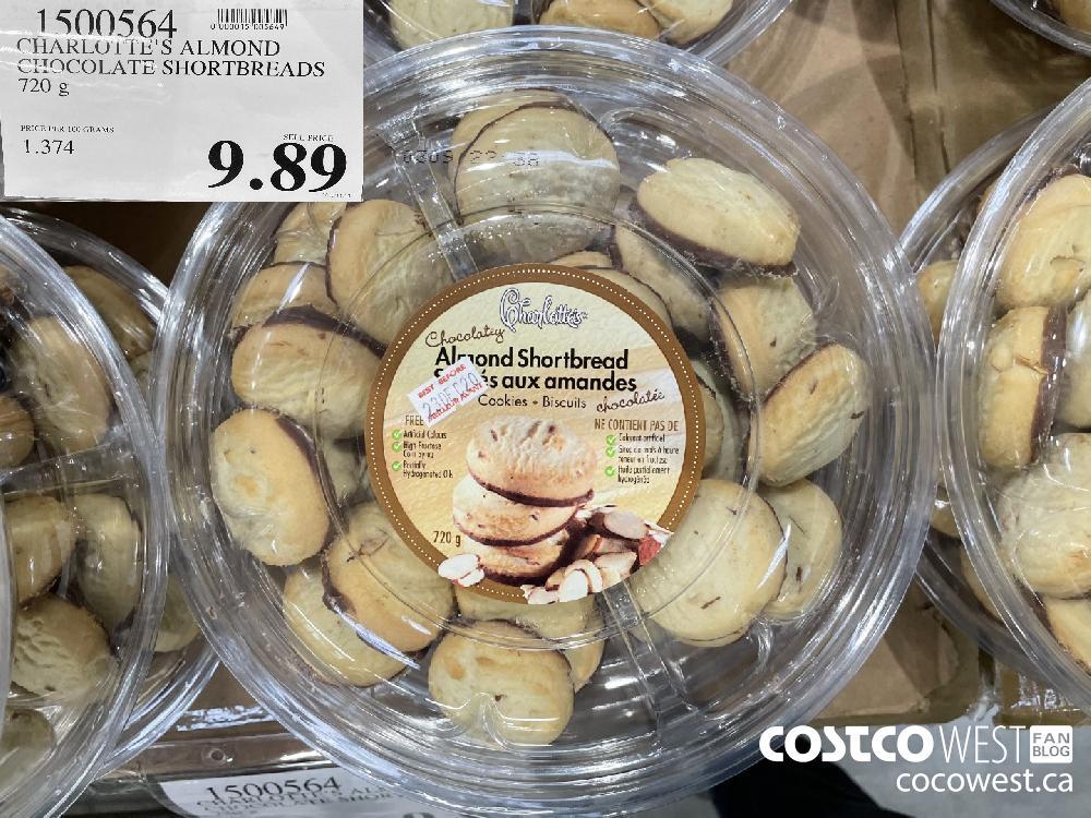 1500564 CHARLOTTE'S ALMOND CHOCOLATE SHORTBREADS 720 g $9.89