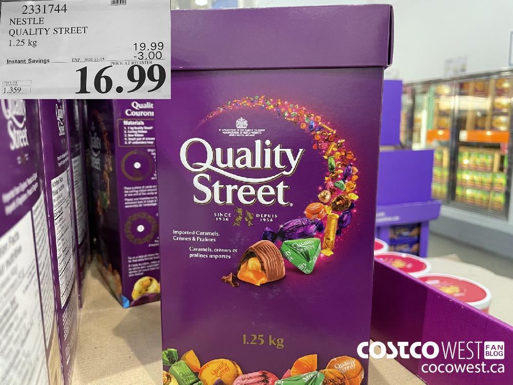 2331744 NESTLE QUALITY STREET 1.25 kg EXP. 2020-11-15 $16.99