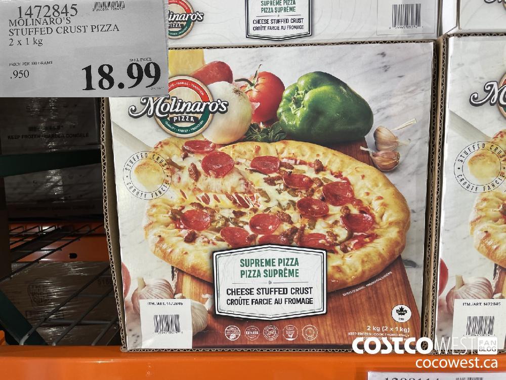 1472845 MOLINARO'S STUFFED CRUST PIZZA 2 x 1 kg $18.99
