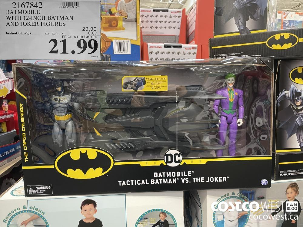 2167842 BATMOBILE WITH 12-INCH BATMAN AND JOKER FIGURES EXP. 2020-11-15 $21.99