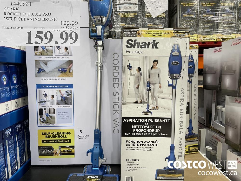 1440981 SHARK ROCKET DELUXE PRO SELF CLEANING BRUSH EXP. 2020-11-22 $159.99