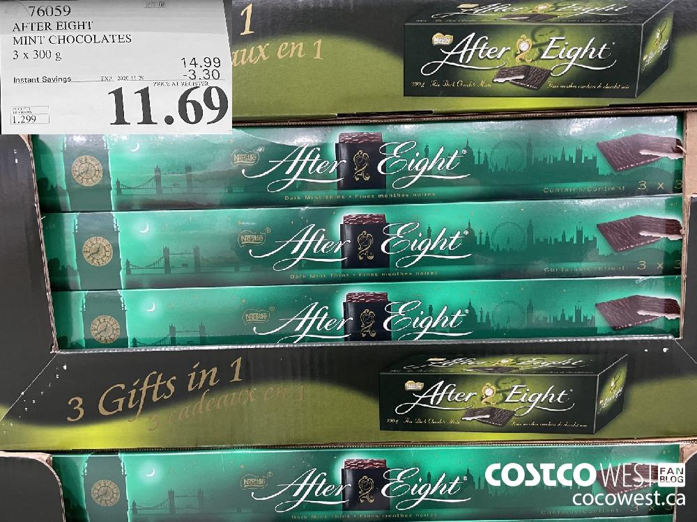 76059 AFTER EIGHT MINT CHOCOLATES 3 x 300 g EXP. 2020-11-29 $11.69