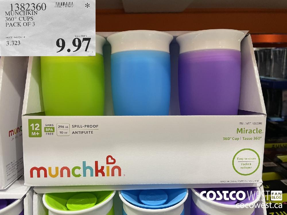 329360 MUNCHKIN 360° CUPS PACK OF 3 $9.97