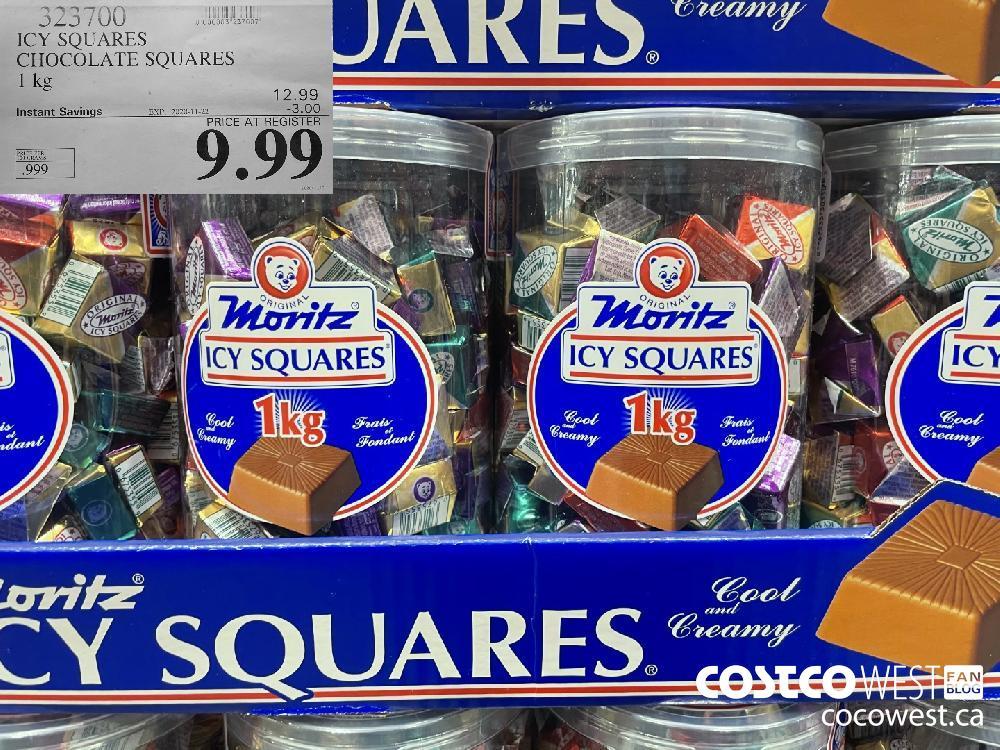 323700 ICY SQUARES CHOCOLATE SQUARES 1 kg EXP. 2020-11-22 $9.99
