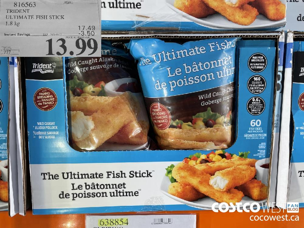 816563 TRIDENT ULTIMATE FISH STICK 1.8 kg EXP. 2020-11-22 $13.99