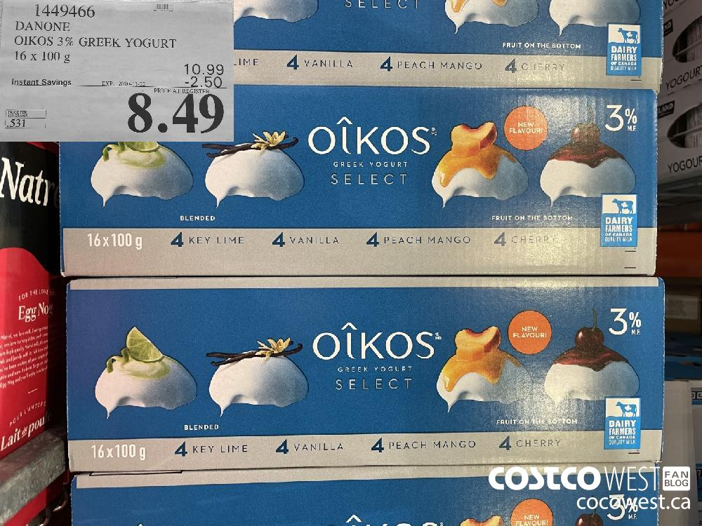 1449466 DANONE OIKOS 3% GREEK YOGURT 16x 100 g EXP. 2020-11-22 $8.49