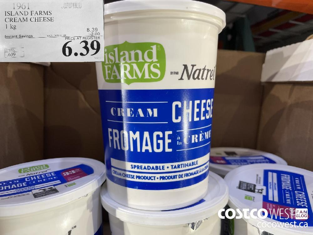 1961 ISLAND FARMS CREAM CHEESE 1 kg EXP. 2020-11-19 $6.39