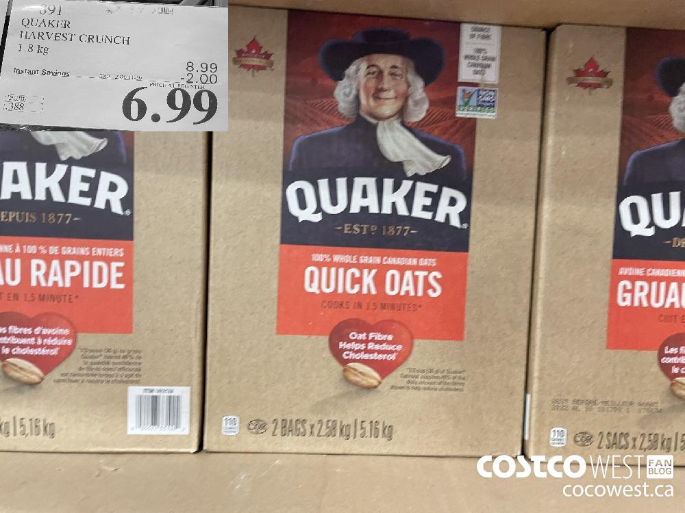 891 QUAKER HARVEST CRUNCH EXP. 2020-11-29 $6.99