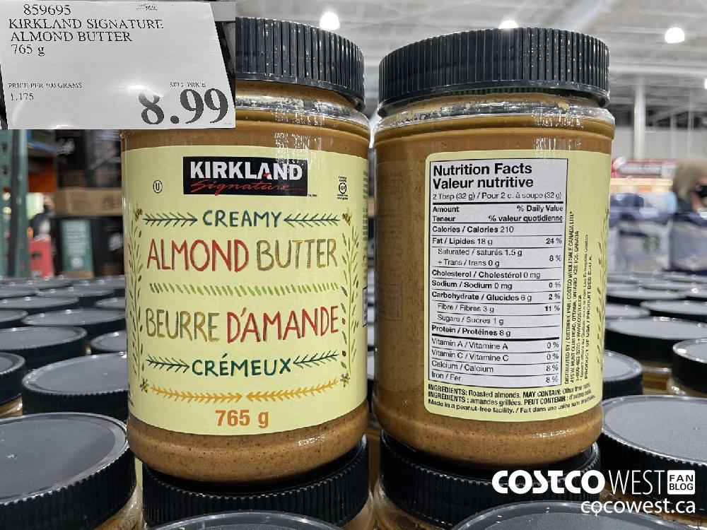 859695 KIRKLAND SIGNATURE ALMOND BUTTER 765 g $8.99