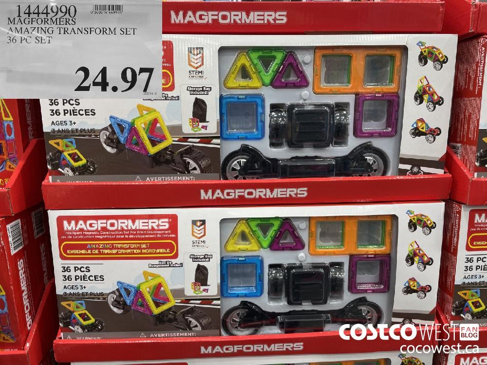 1444990 MAGFORMERS AMAZING TRANSFORM SET 36 PC SET 24.97