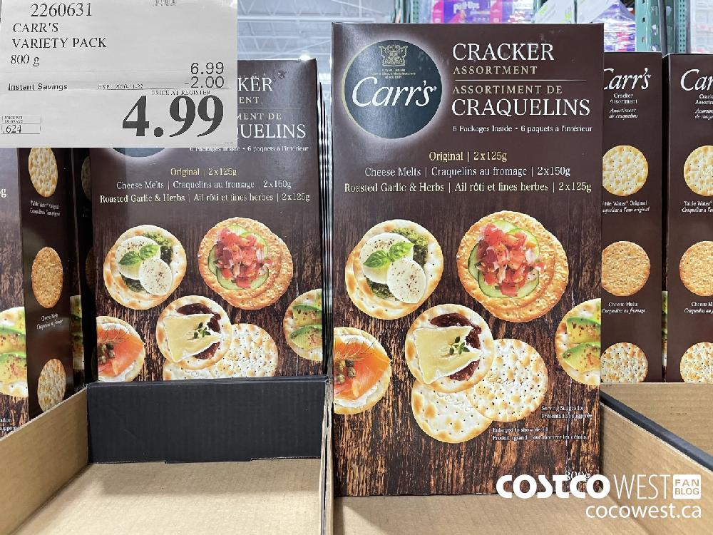 2260631 CARR'S VARIETY PACK 800 g EXP. 2020-11-22 $4.99