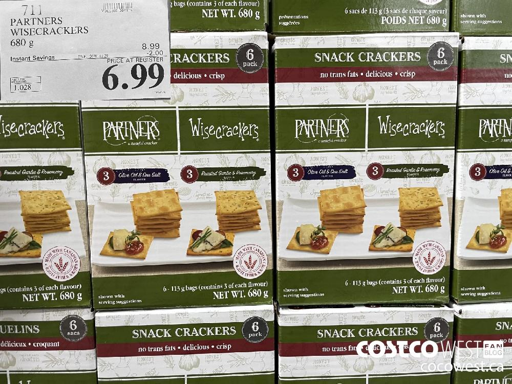 711 PARTNERS WISECRACKERS 680 g EXP. 2020-11-29 $6.99