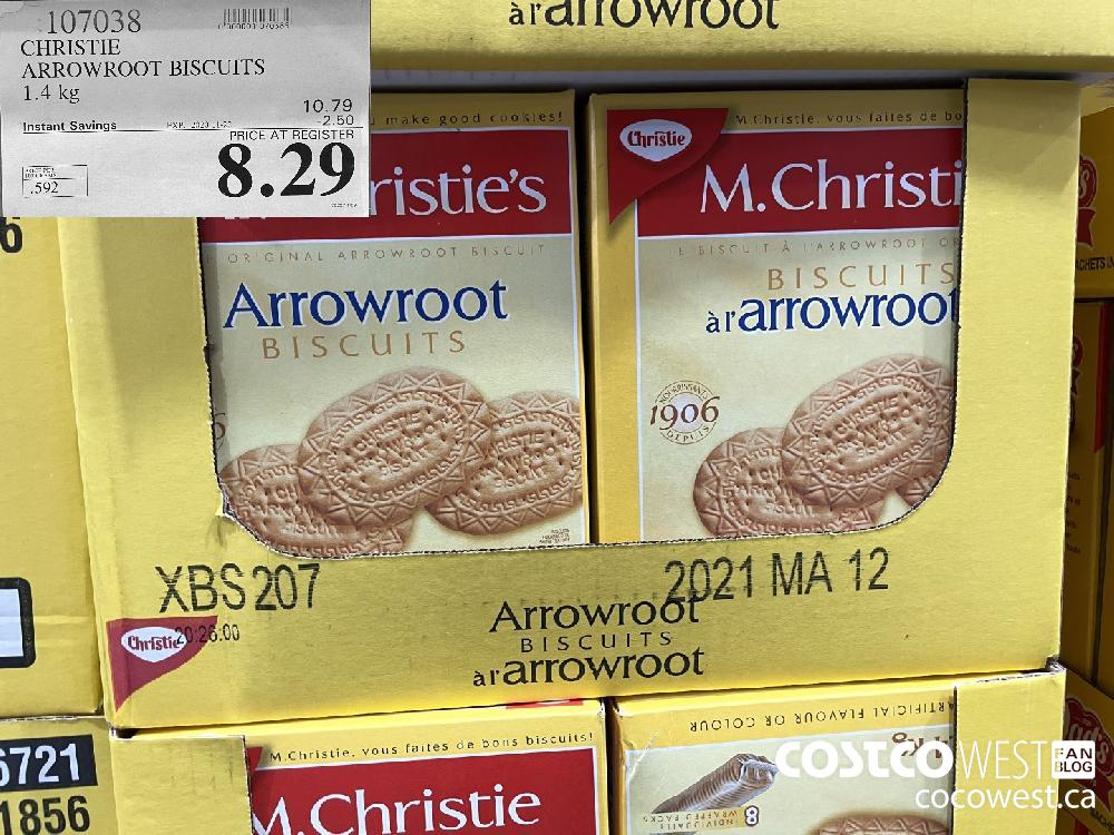 107038 CHRISTIE ARROWROOT BISCUITS 1.4 kg EXP. 2020-11-22 $8.29
