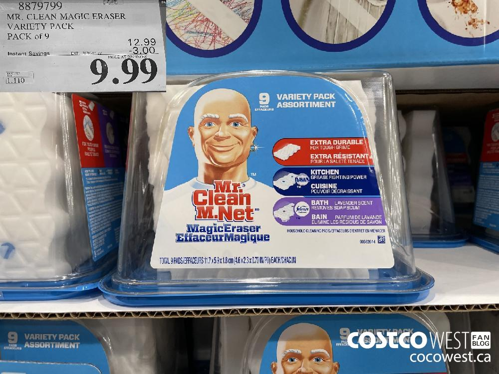 8879799 MR. CLEAN MAGIC ERASER VARIETY PACK PACK of 9 EXP. 2020-11-22 $9.99