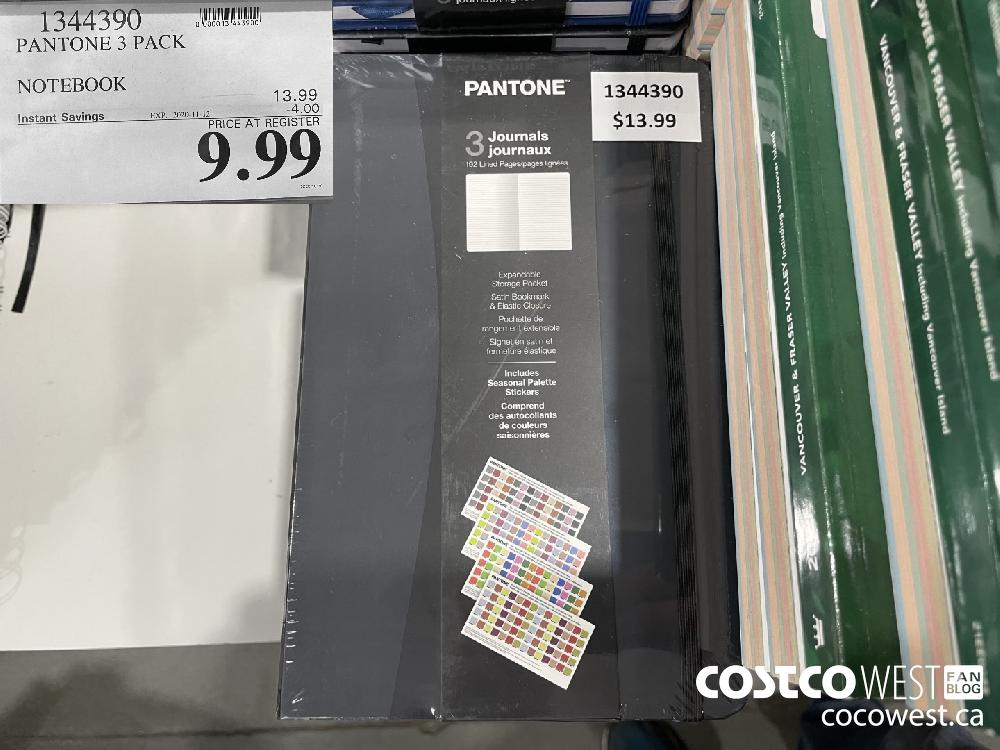 1344390 PANTONE 3 PACK NOTEBOOK EXP. 2020-11-12 $9.99