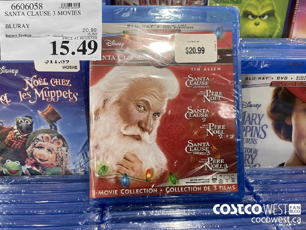 6606058 SANTA CLAUSE 3 MOVIES BLURAY EXP. 2021-01-05 $15.49