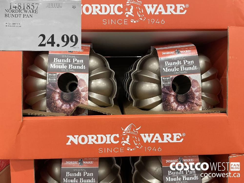 1481857 NORDICWARE BUNDT PAN $24.99