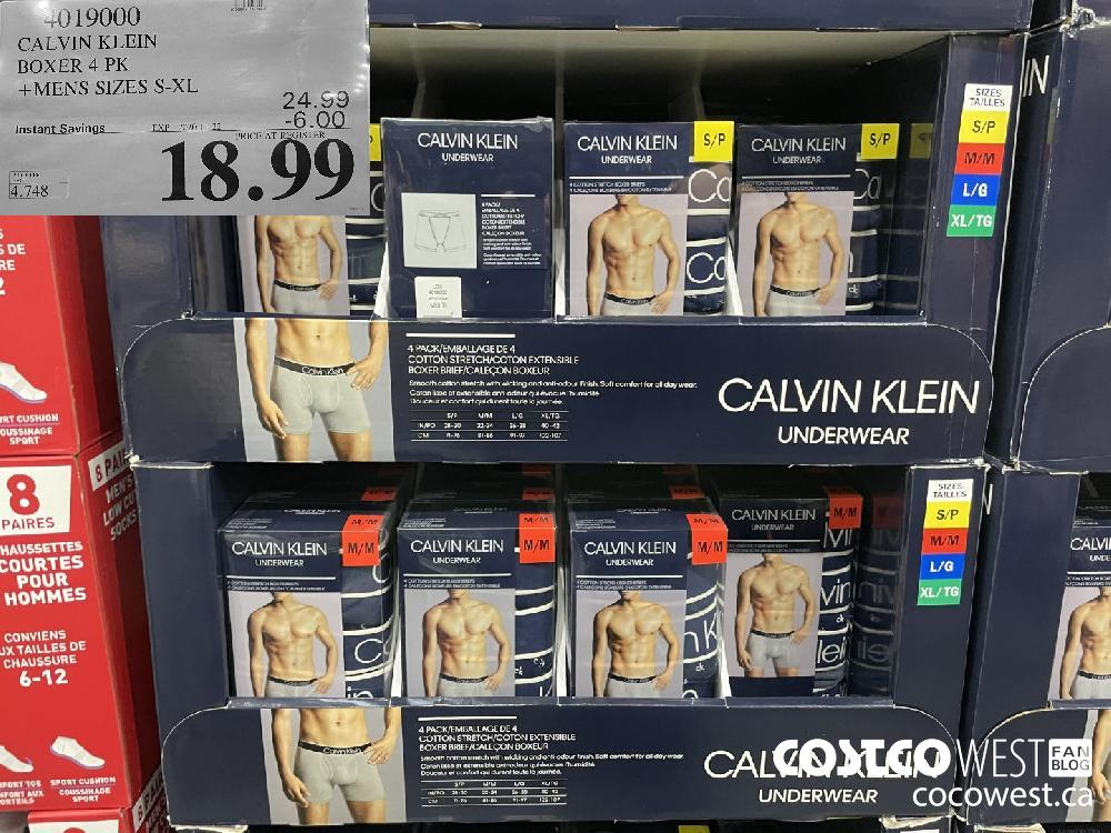 4019000 CALVIN KLEIN BOXER 4 PK MENS SIZES S-XL EXP. 2020-11-22 $18.99
