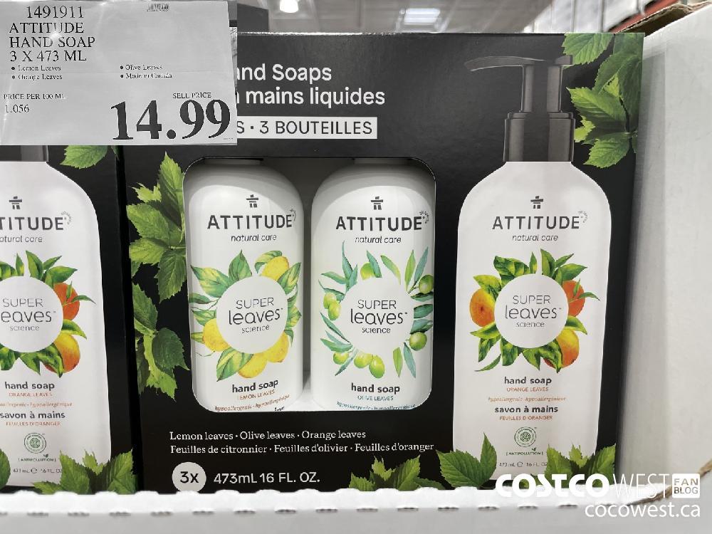 1491911 ATTITUDE HAND SOAP 3 X 473 ML $14.99