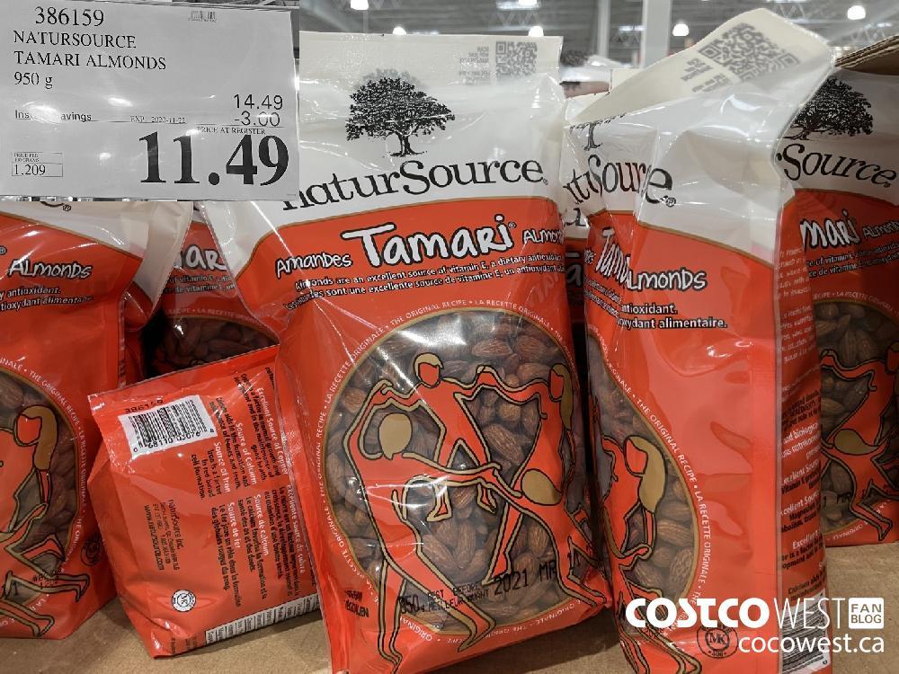 386159 NATURSOURCE TAMARI ALMONDS 950 g EXP. 2020-11-27 $11.49