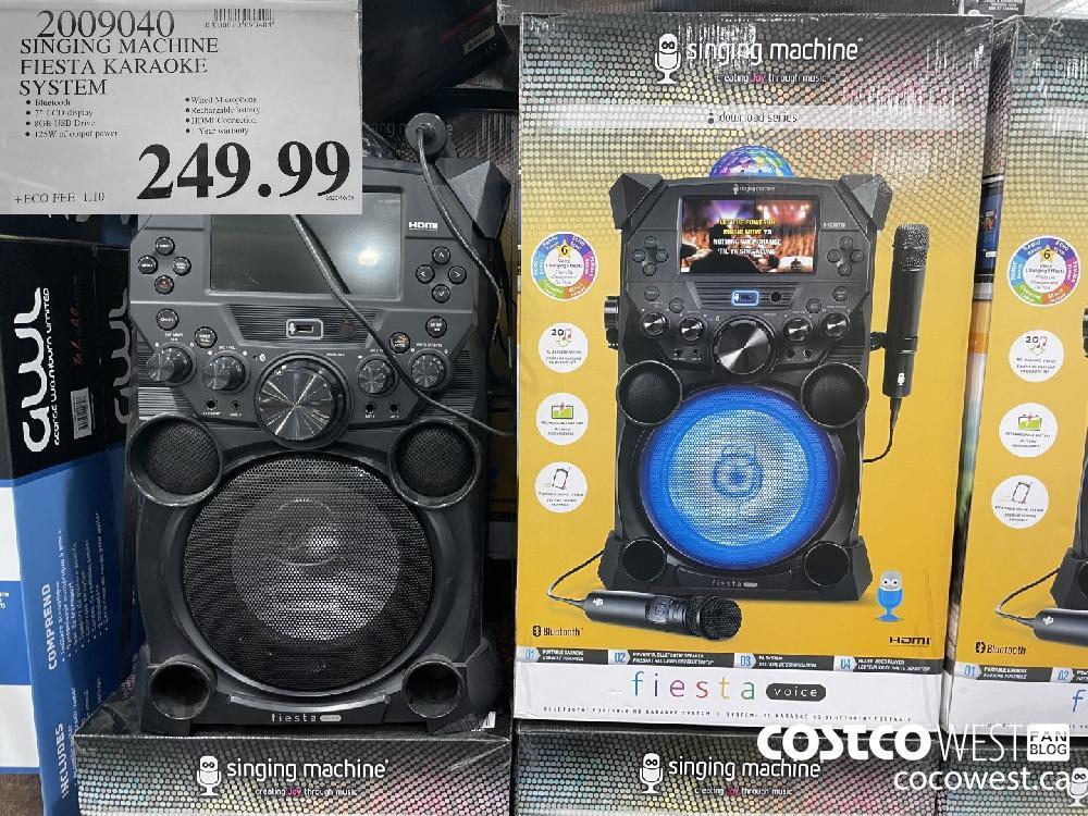 2009040 SINGING MACHINE FIESTA KARAOKE SYSTEM $249.99