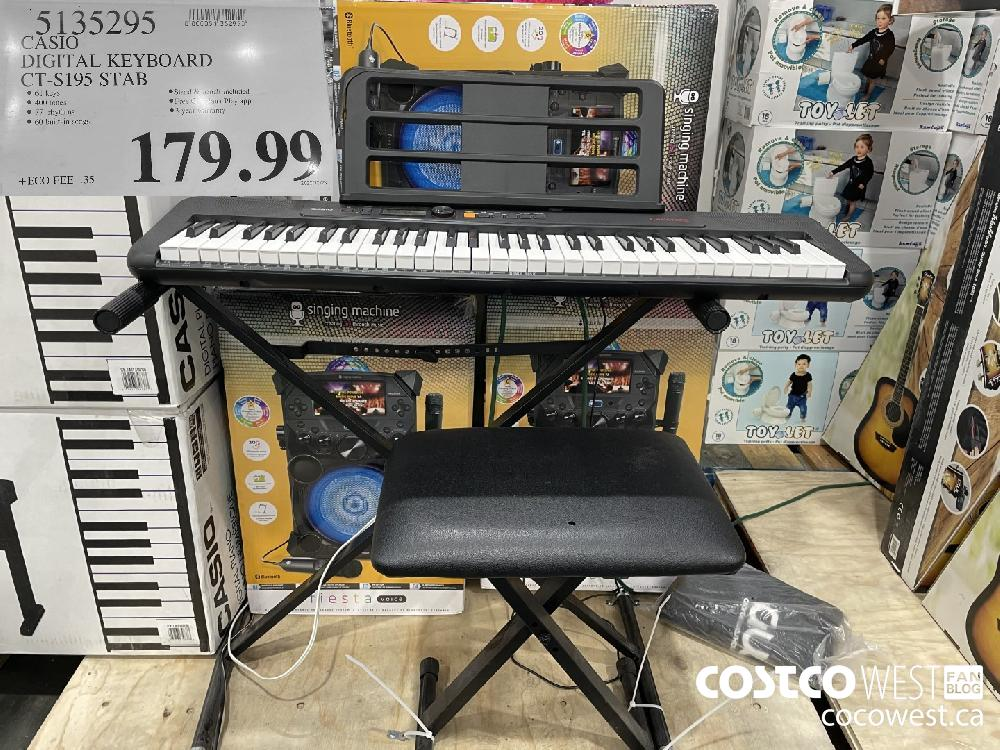 5135295 CASIO DIGITAL KEYBOARD CT-S195 STAB $179.99