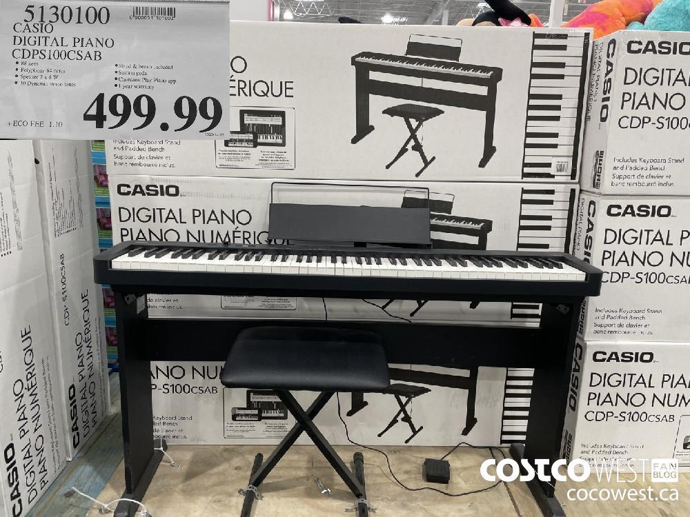 5130100 CASIO DIGITAL PIANO CDPS100CSAB $499.99