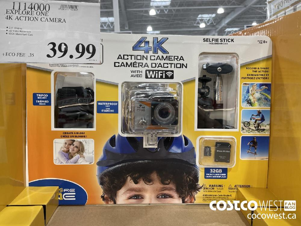 1114000 EXPLORE ONE 4K ACTION CAMERA $39.99