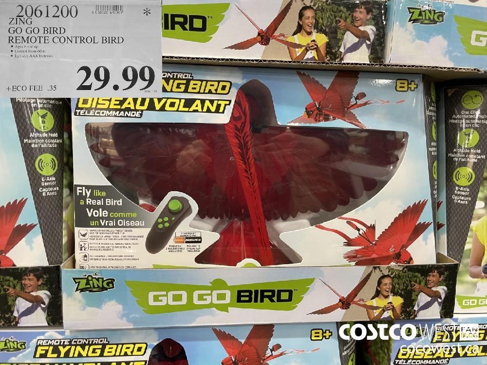 2061200 ZING GO GO BIRD REMOTE CONTROL BIRD $29.99