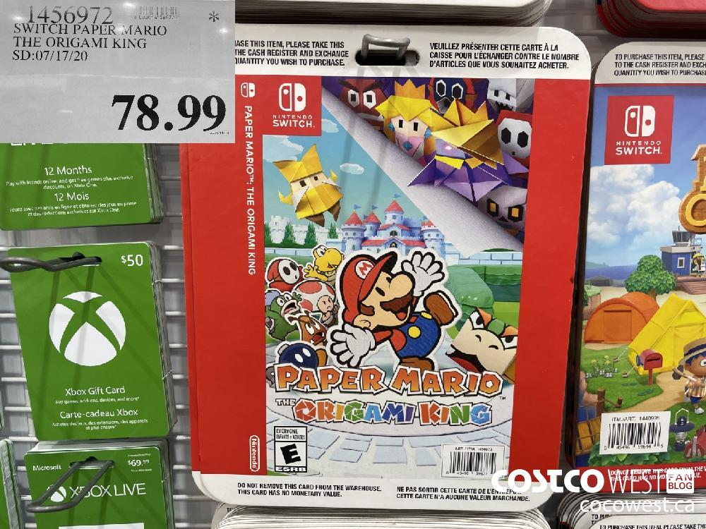 SWITCH PAPER MARIO THE ORIGAMI KING SD:07/17/20 $78.99