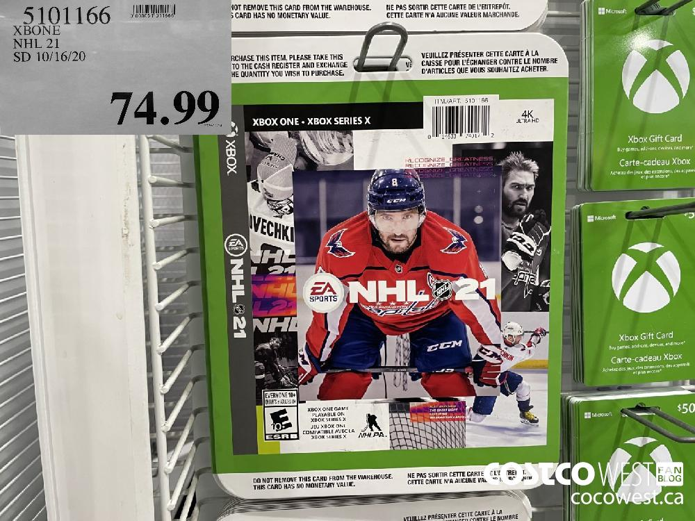 5101166 XBONE NHL 21 SD 10/16/20 $74.99