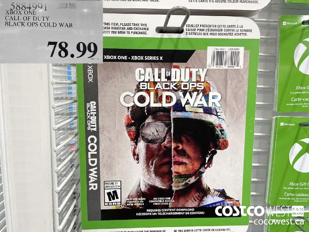 5884991 XBOX ONE CALL OF DUTY BLACK OPS COLD WAR $78.99
