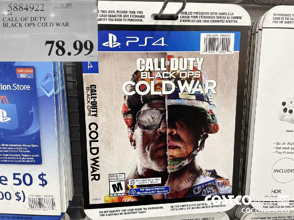 5884922 PS4 CALL OF DUTY BLACK OPS COLD WAR $78.99