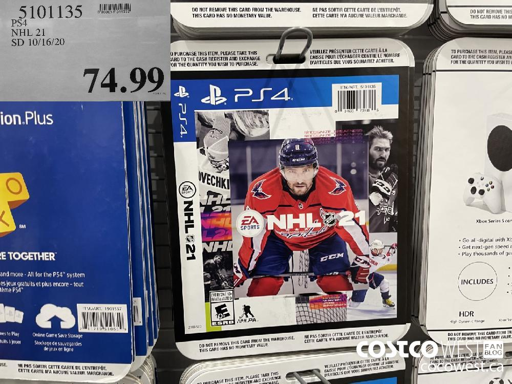 5101135 PS4 NHL 21 SD 10/16/20 $74.99