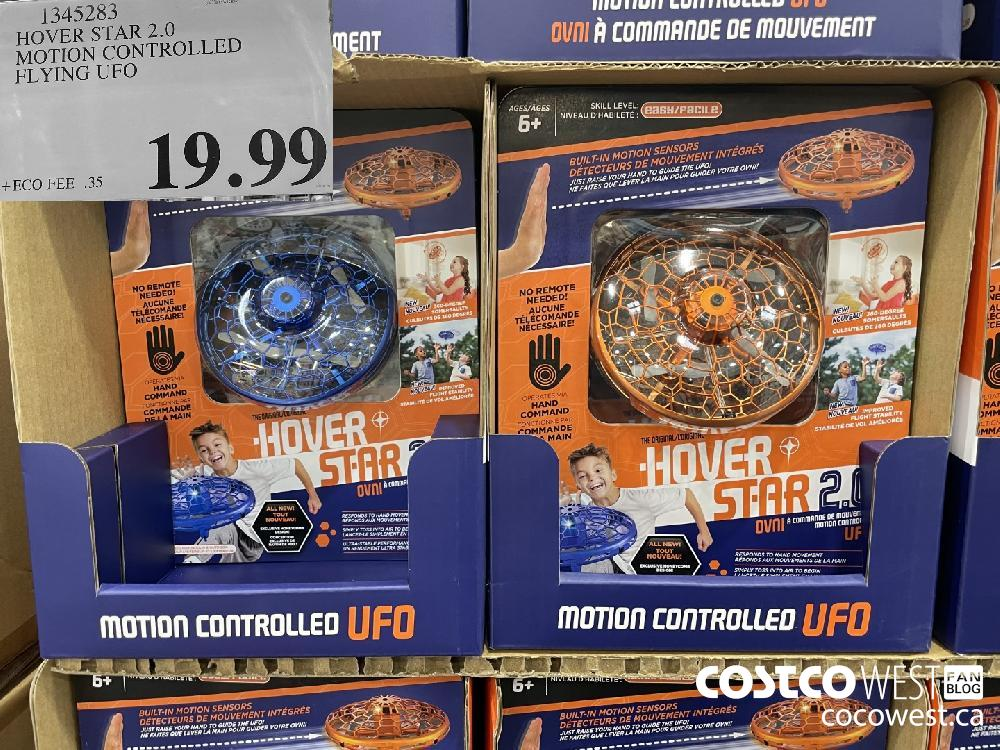 1345283 HOVER STAR 2.0 MOTION CONTROLLED FLYING UFO $19.99