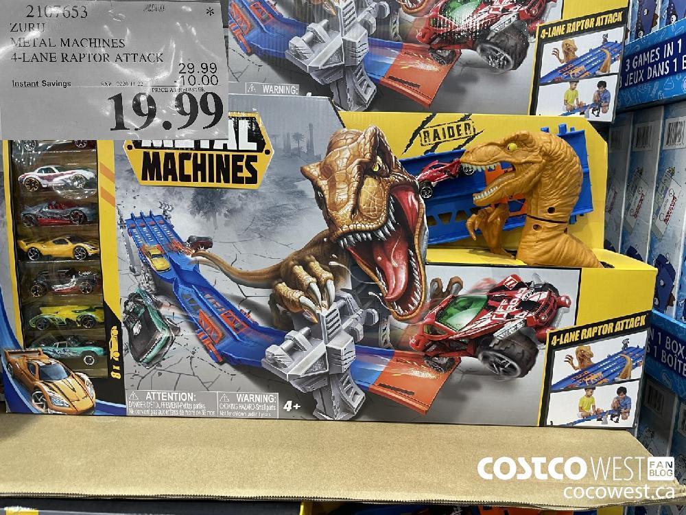 2107653 ZURI METAL MACHINES 4-LANE RAPTOR ATTACK EXP. 2020-11-22 $19.99