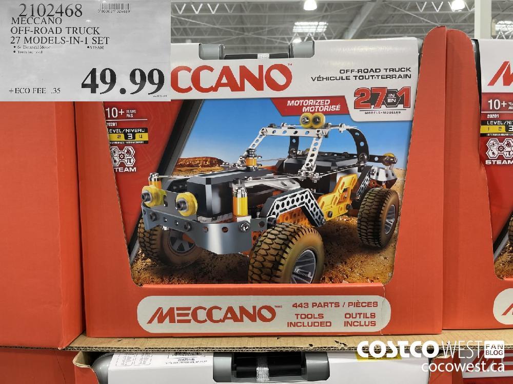 2102468 MECCANO OFF-ROAD TRUCK 27 MODELS-IN-1 SET $49.99