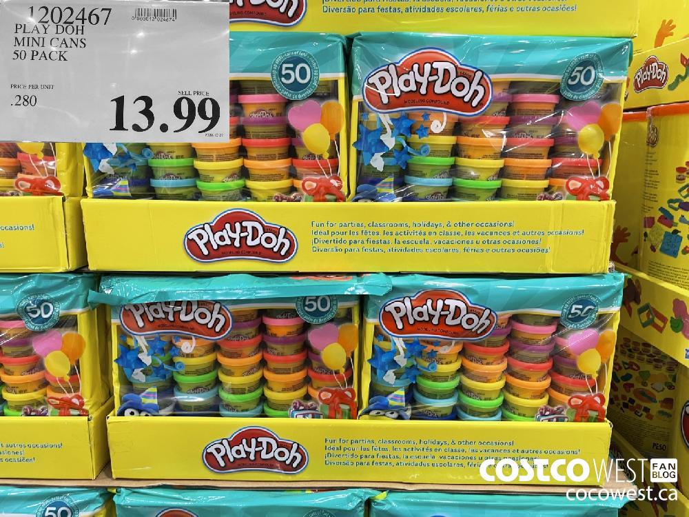 1902467 PLAY DOH MINI CANS 50 PACK $13.99
