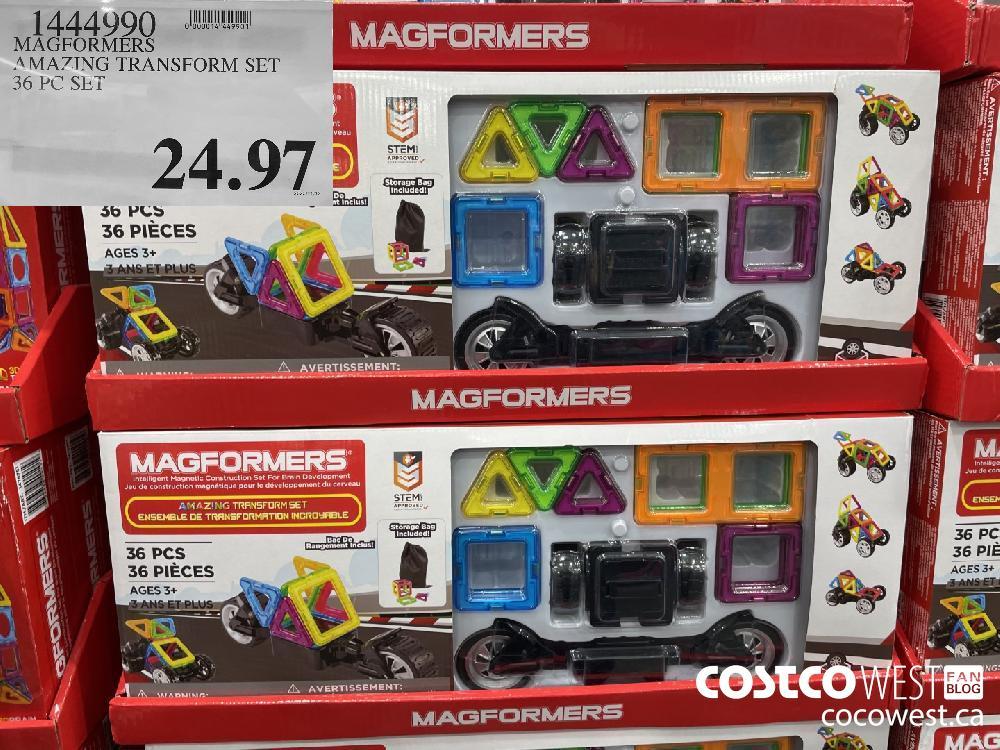 14449990 MAGFORMERS AMAZING TRANSFORM SET 36 PC SET $24.97