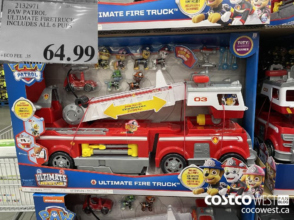 2132971 PAW PATROL ULTIMATE FIRETRUCK UNCLUDES ALL 6 PUPS $64.99
